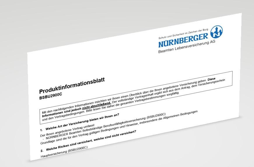 Nürnberger Beamten Berufs- und Dienstunfähigkeitsversicherung