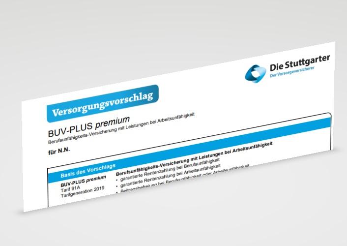 Stuttgarter Berufsunfähigkeitsversicherung